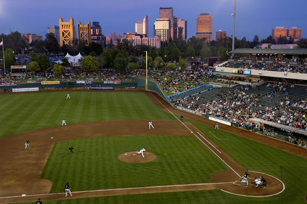 The opening day game between the Sacramento River Cats and Salt Lake Bees at  Raley Field in West Sacramento on Friday, April 11, 2014.