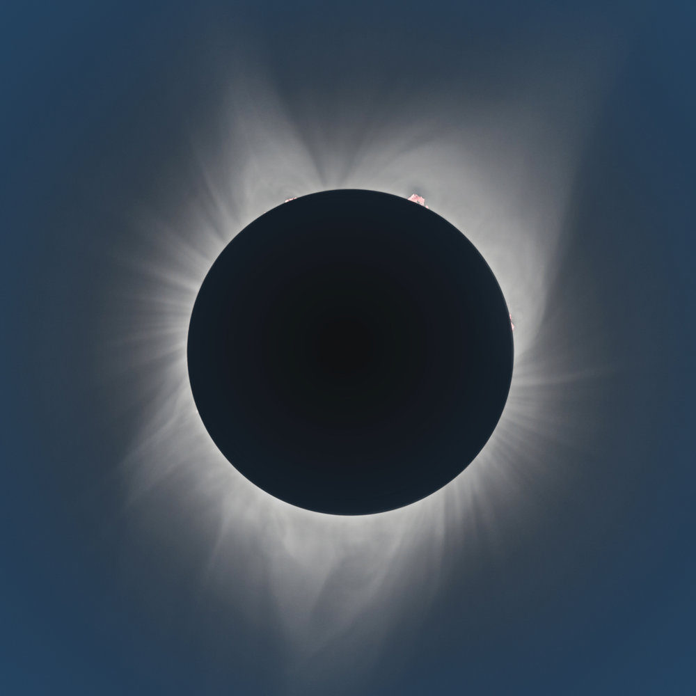 The corona is revealed during the total solar eclipse near Mitchell, OR on Monday, August 21, 2017.