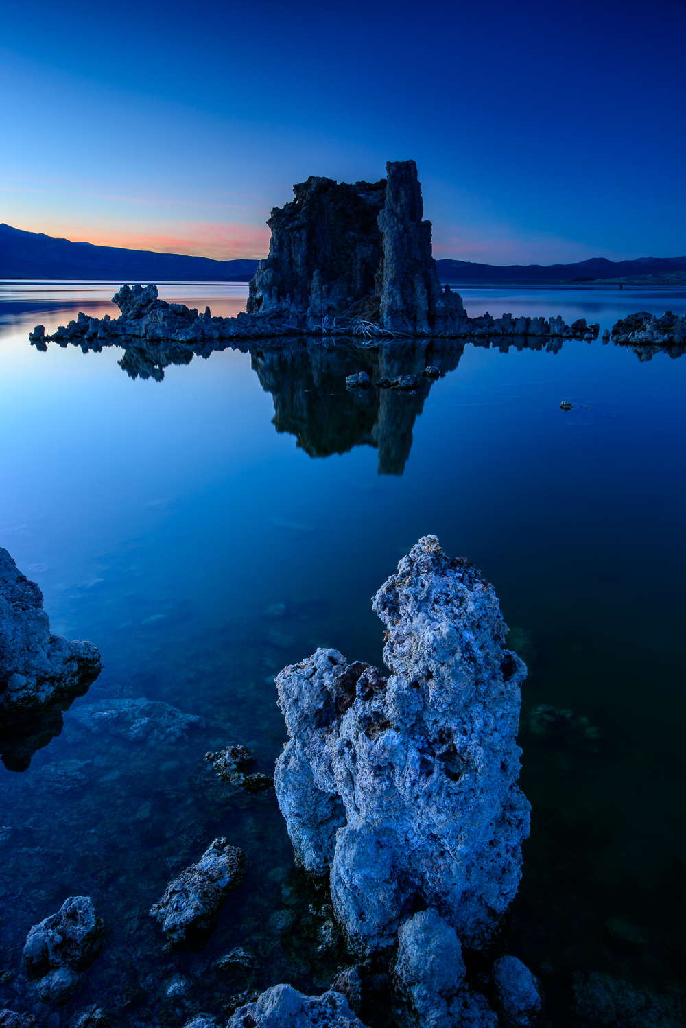 Blue hour sets in at Mono Lake, CA.