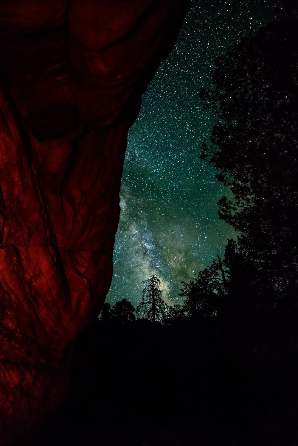 With pristine clear skies, the milky way and other celestial bodies are routinley visible in Zion National Park, UT.