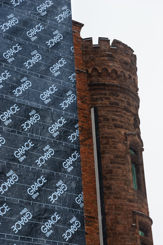 The El Moore, mid renovation. Midtown, Detroit.