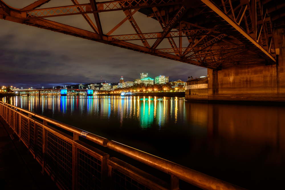 Eastbank Esplanade.  Portland, Oregon.