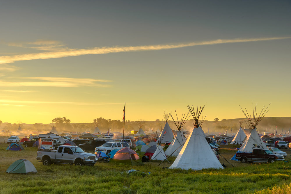 Tribes from all over North America descended upon the camp to setup and offer support. Standing Rock Reservation Area, ND.