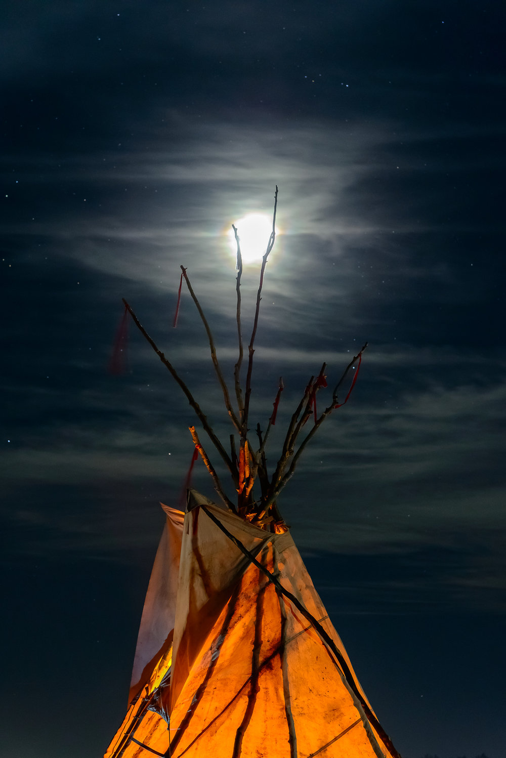 I chose my camp spot based on how awesome this teepee was.  Standing Rock Reservation Area, ND.