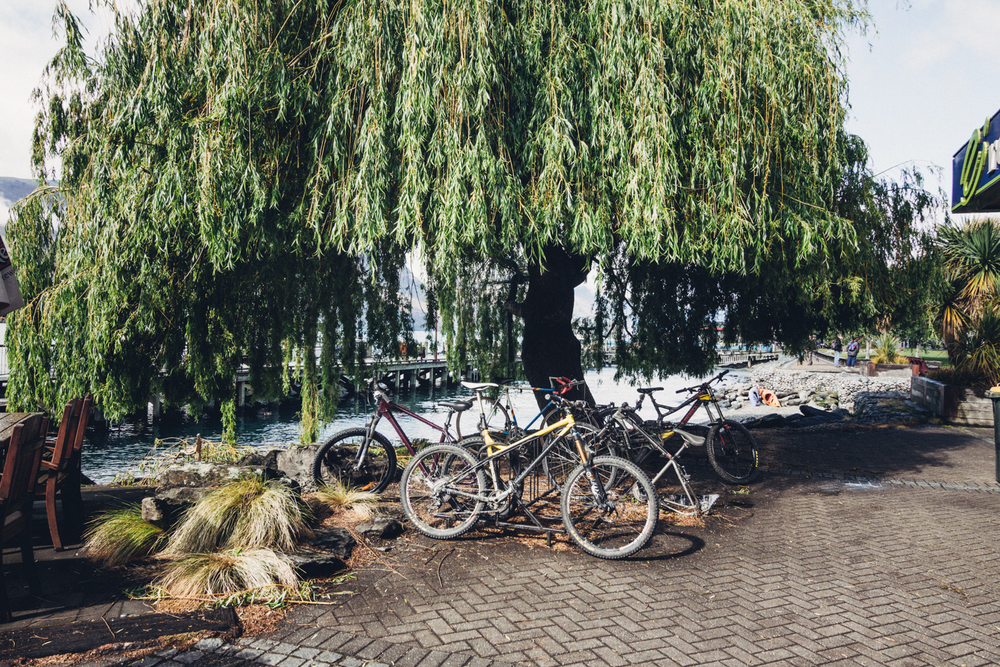 Bike and the lake