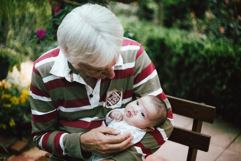 Granddad and his grand daughter
