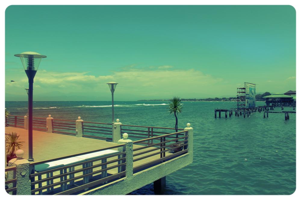 View at Panagatan Seafoods restaurant.