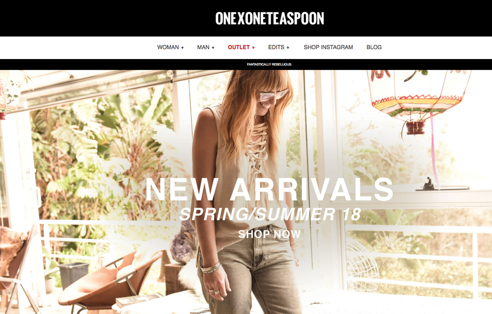 X ONE TEASPOON  -