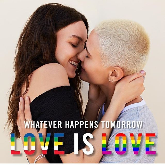 November 15th marks a very important day in Australian history. We're so proud of have been a part of the @sportsgirl #LoveIsLove campaign - the answer is always love #MarriageEquality #YES 💘🌈✨
