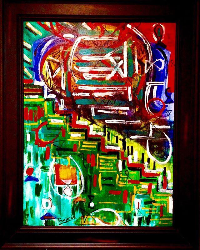 """The Decent"" 2015. Acrylic on canvas. By David Guajardo. @davidguajardoart #davidguajardoart #art #painting #contemporaryart #artist #artsy #instaart #instagood #creative #instaartist #artoftheday"