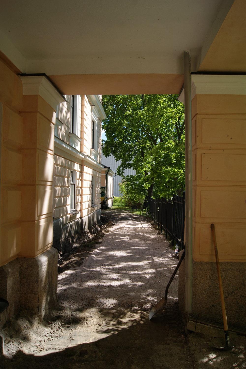 Hedvig Sofiahemmet vanhainkoti kivi- ja istutustyöt.