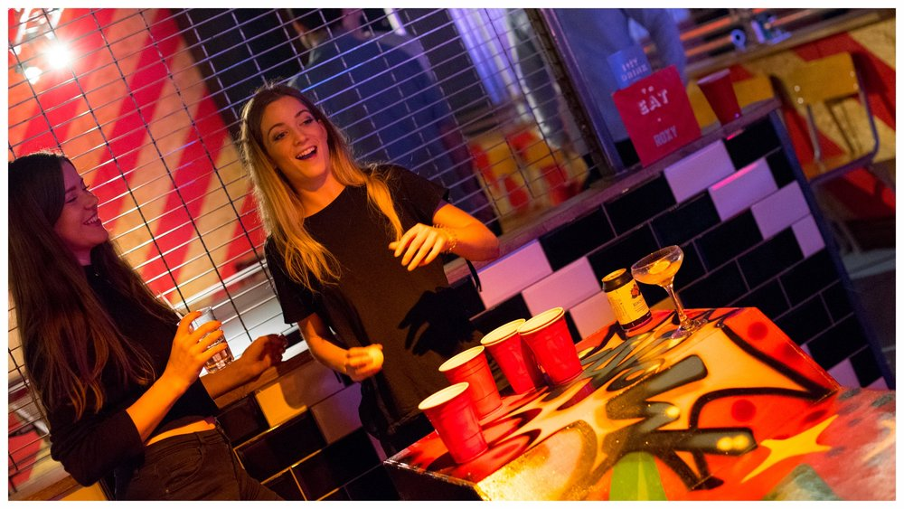 BEER PONG - WE HAVE BATTLE STATIONS READY AND WAITING FOR YOU. WE DO NOT RESERVE THESE IN ADVANCE, IF THE TABLES ARE FREE GRAB SOME BEER FROM THE BAR AND BATTLE AWAY