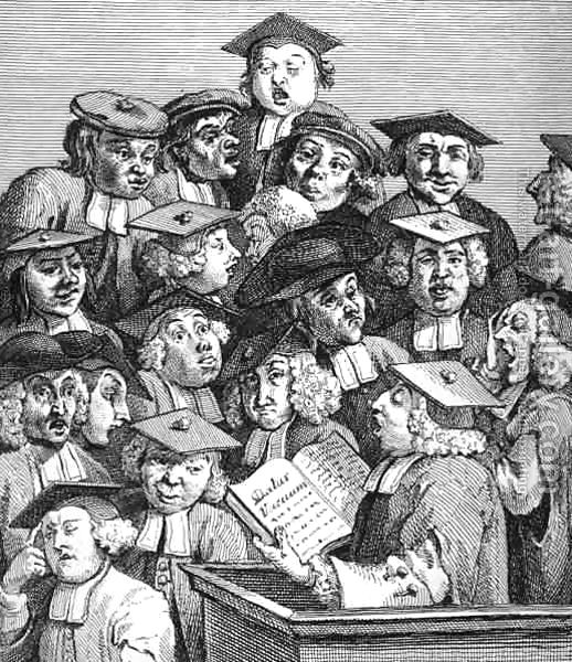 "William Hogarth, ""Scholars at a Lecture"" (1736)"