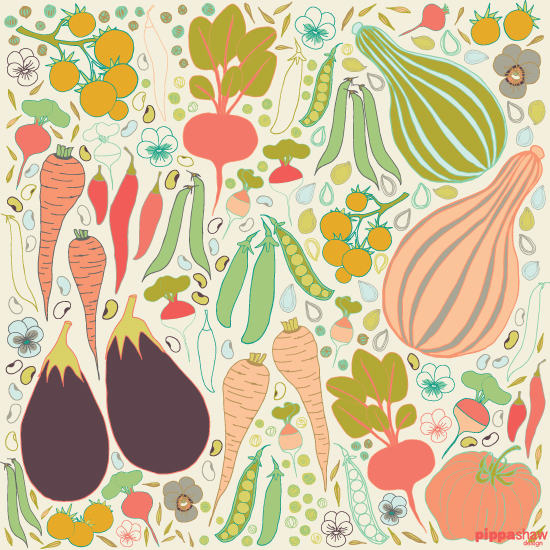 """Harvest"" design from the Kitchen Garden collection"