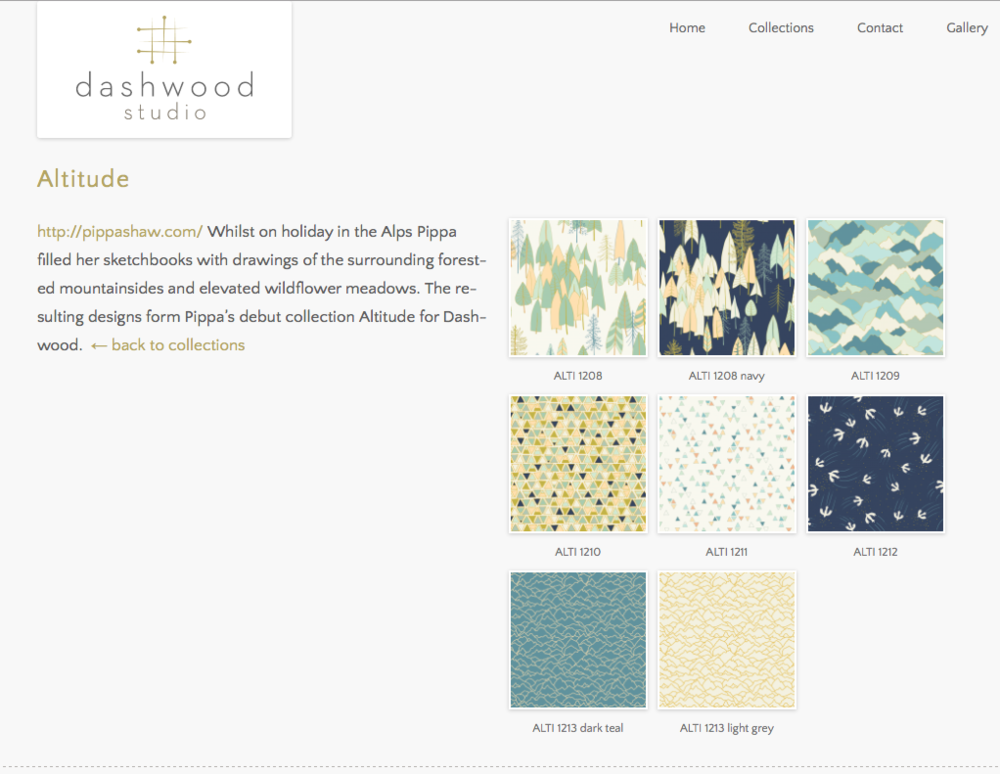 Altitude collection on the Dashwood Studio website