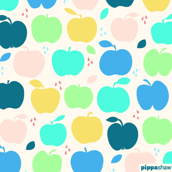 """Dorset Apples"" repeat pattern"