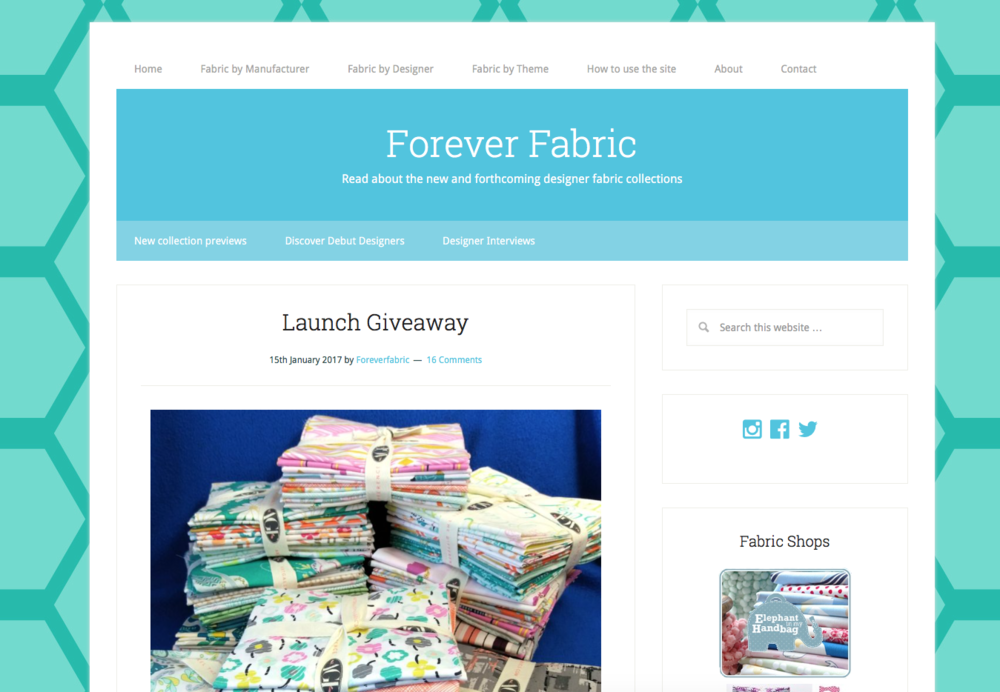 The Forever Fabric website