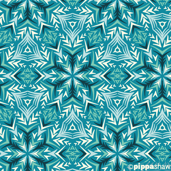 a snowflake inspired geometric, perfect for gift wrap with some metallic highlights! (day 2)