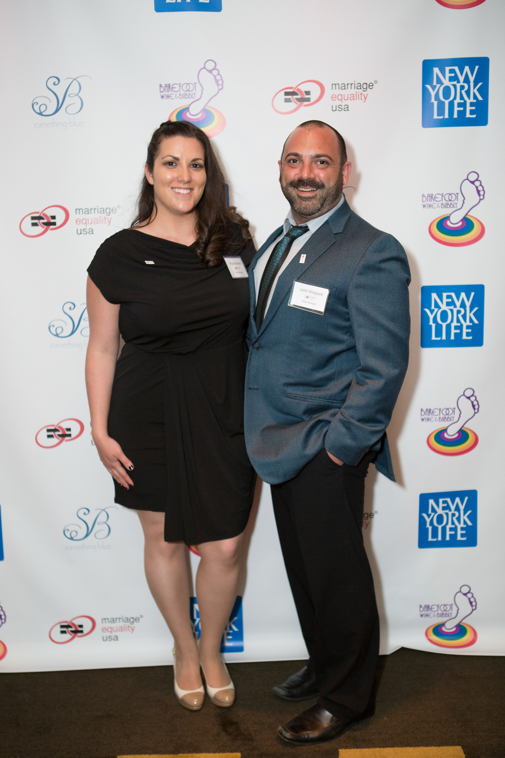 Nicole Batiste and John Shepard at the Marriage Equality Gala in New York, May 19th, 2014.  Photo by www.stevenrosenphotography.com