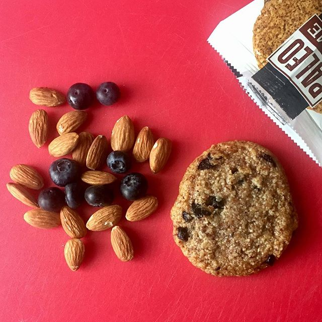 PSA: Almonds are one of nature's most perfect foods. They are also the first ingredient in our cookies ...18 per cookie. Say whaaat? Yep, that's just the right amount of protein, fiber, and healthy fats to keep you fueled!