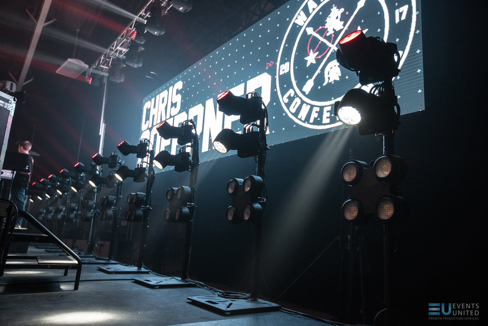 Chauvet R1 Washes and Strike 4's