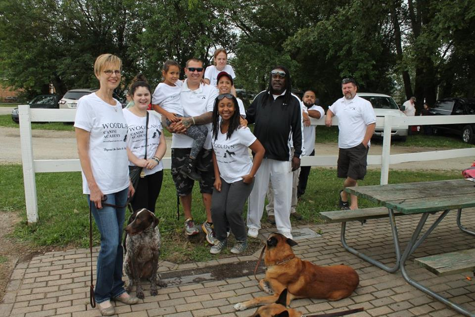 Although, not all staff, everyone in this picture plays an integral role in our business. Supporting each and every one of our activities and working with their canines exactly as taught helps bring about the best role models Woodlawn can have.
