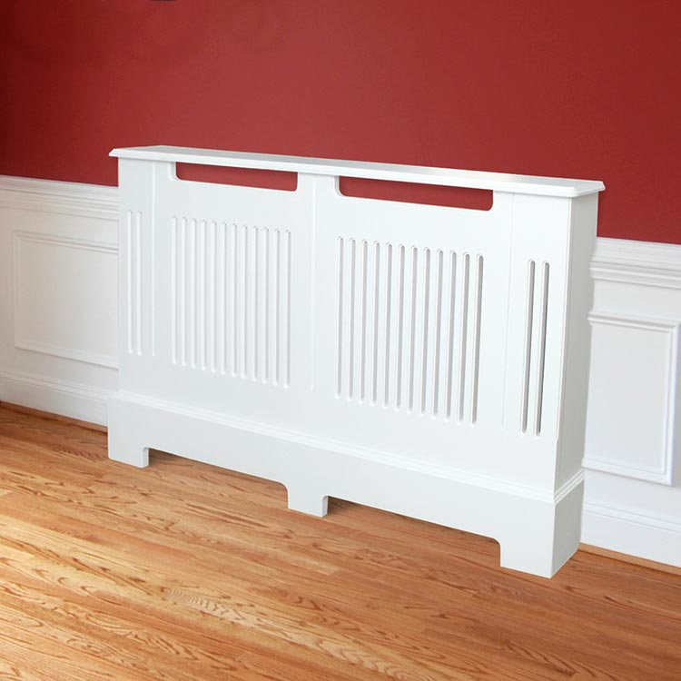 Contemporary slatted radiator covers. Compliments modern interiors.