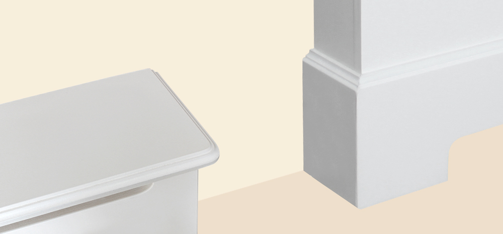 Edges are shaped with Radiator Cover Directs signature molding to for an elegant, decorative finish.