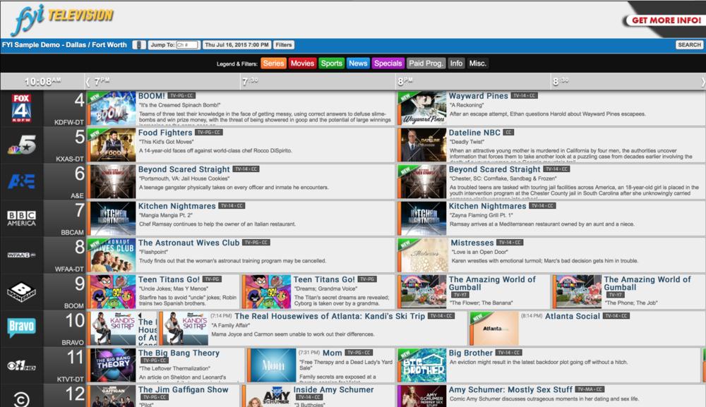 FYI Online Demo Grid View