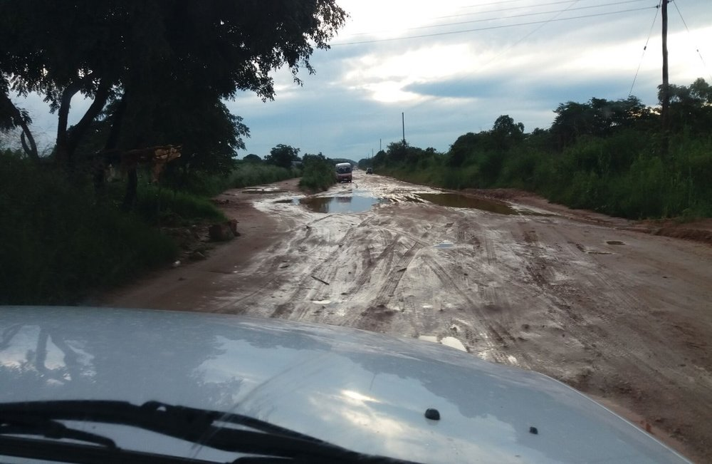 The difficulties travelling to Kanakantapa clinic after a downpour.