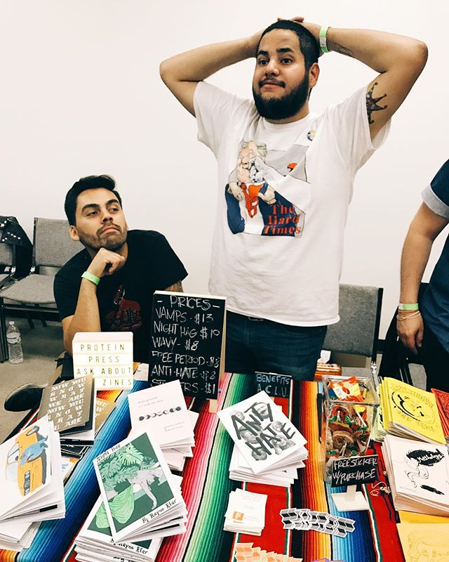 #tbt to @lazinefest last year. We'll be there again this Sunday hanging, talking zines and shit with the homies. Also we'll have a NEW ZINE?? We feel SO lucky to be tabling there again