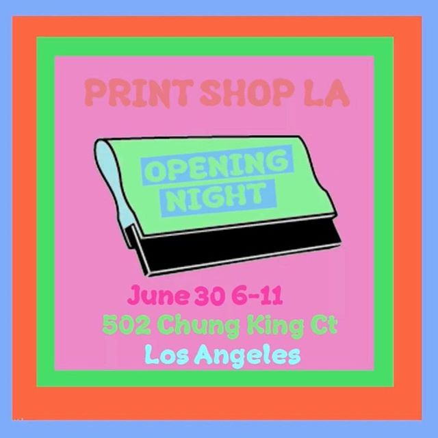 This Saturday night come support a dope ass LA print shop for their opening night. Sean, Cait and Dave are the homies and their new space rules. THERE WILL BE BEER.