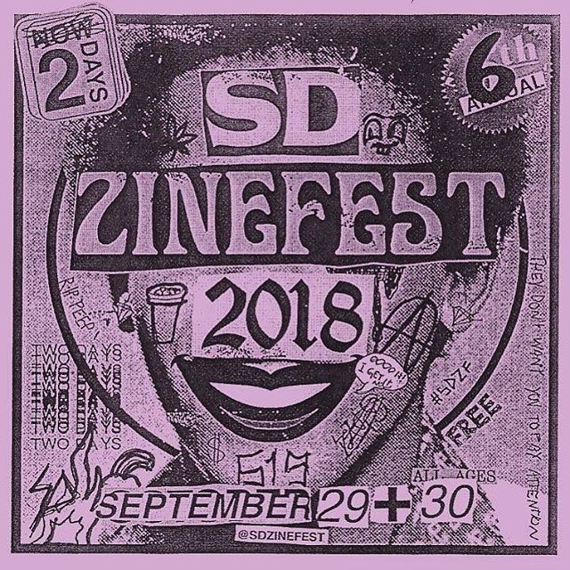 We'll be tabling @sdzinefest THIS SATURDAY. It's our last zinefest of the year(?) so please come hang out. Can't wait to catch up with our San Diego homies.