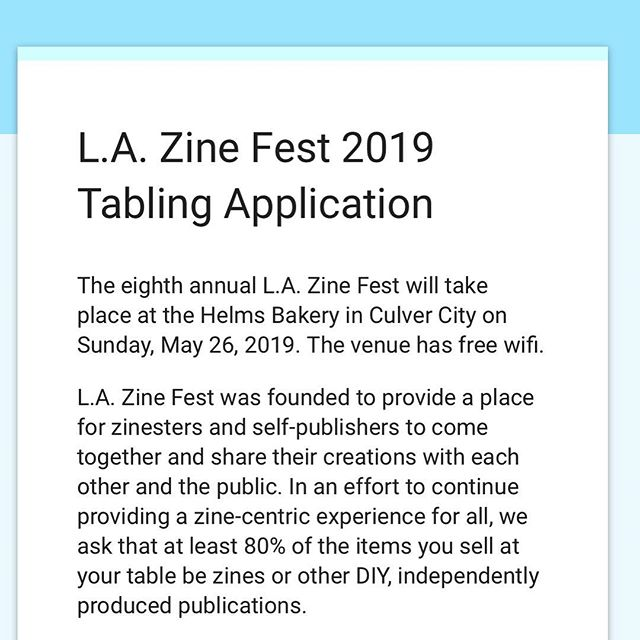Goooooo apply to LAZF. App closes next Wednesday. It's a great show thrown by great people, which you probably already know so why haven't you applied yet??? Link is in their bio @lazinefest 💪🏽
