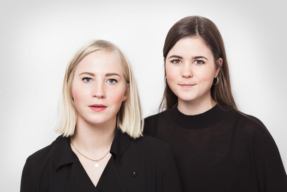 Moa Blomkvist och Caroline Birgersson