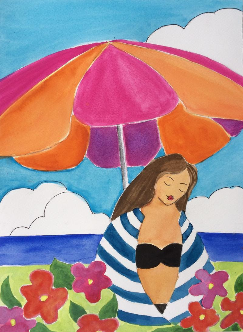 Woman in striped blanket watercolor.jpg