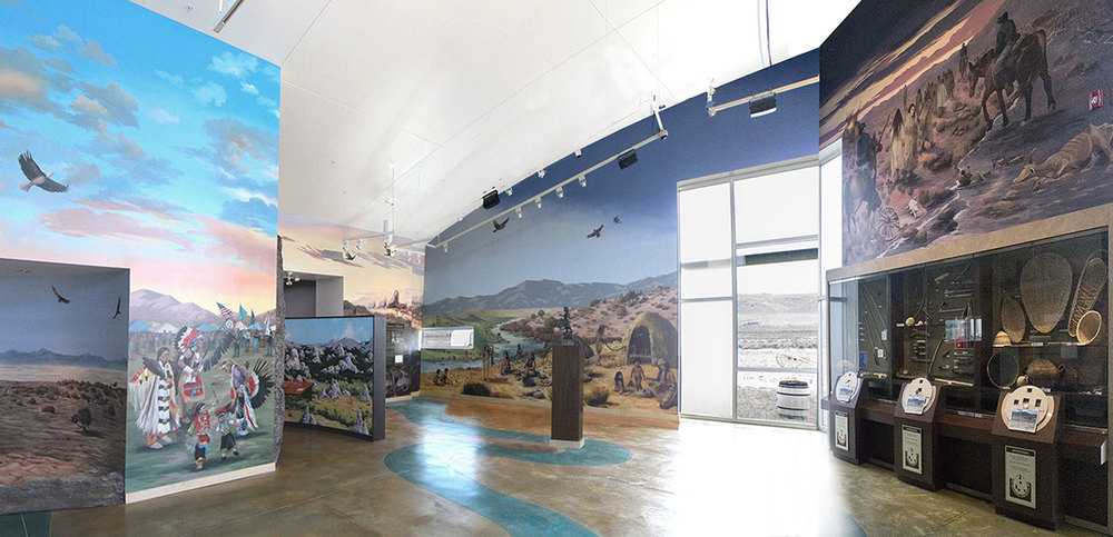 "California Trail Interpretive Center, ""Great Basin Native American Exhibit"" _______   DETAILS ✎"