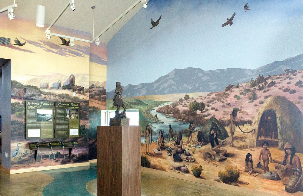 "California Trail Interpretive Center, ""Pioneers Arrive"" & ""Daily Life""  _______   DETAILS ✎"