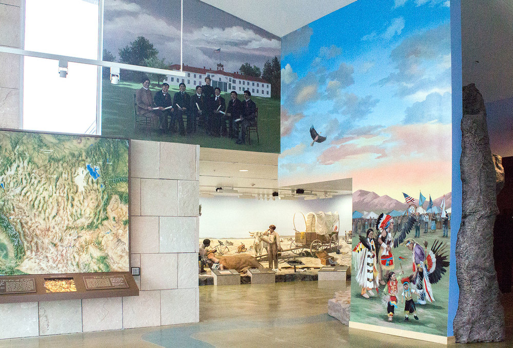 "California Trail Interpretive Center, ""Assimilation"" & ""Modern Day Pow-wow"" _______   DETAILS ✎"