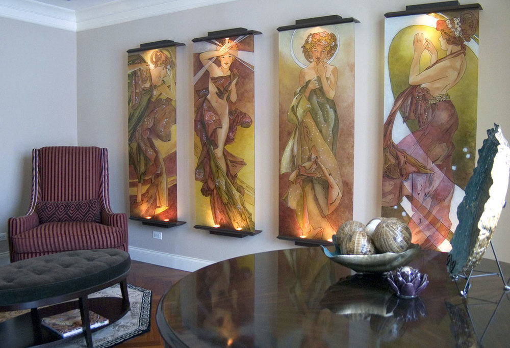 Music Room, Glass Panels
