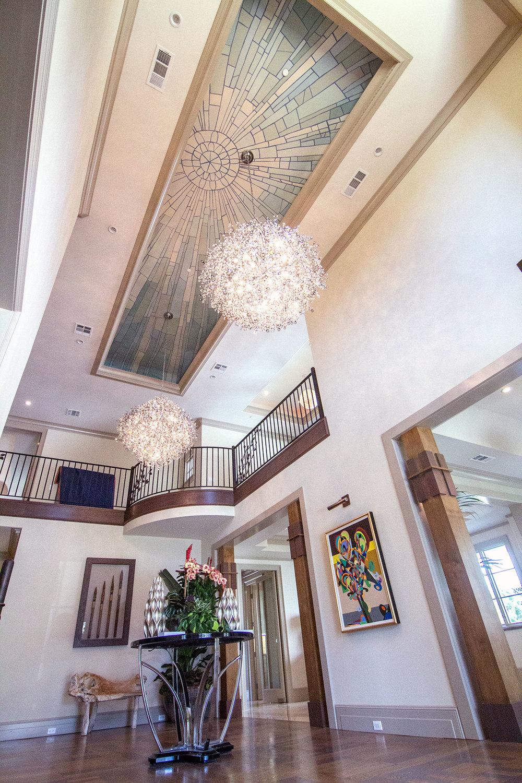 Foyer, Art Deco Sun Rays Ceiling