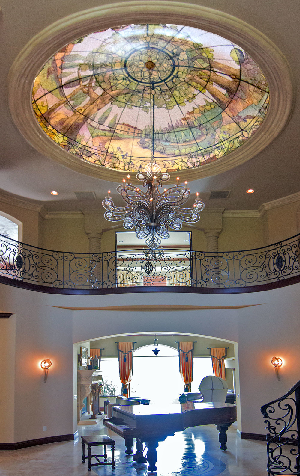 Foyer, Tuscany Stained-glass Effect