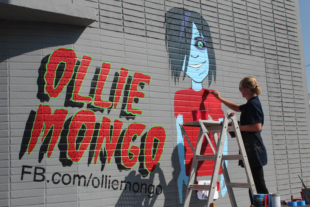 Jeanine Hattas painting Ollie Mongo on Klasky Csupo Animation Studio  | Hollywood, CA