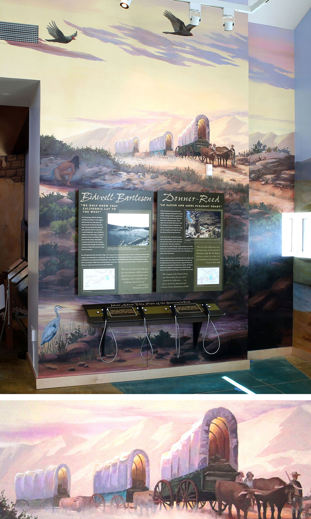 "Mural 1: ""Arrival of the Pioneers"""