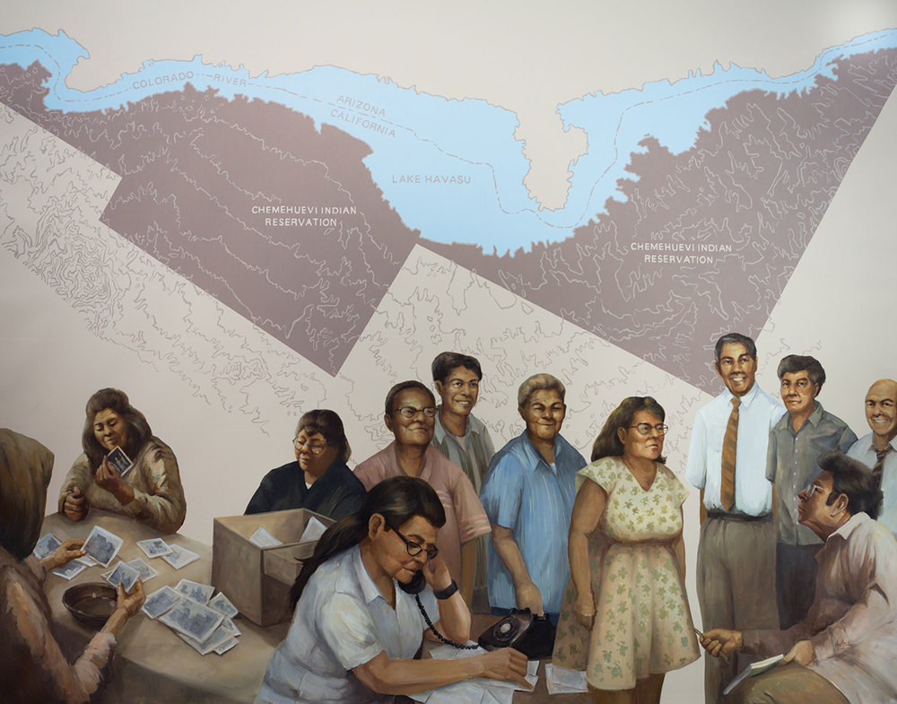 "Mural 3: ""Reestablishment of the Chemehuevi Reservation"""