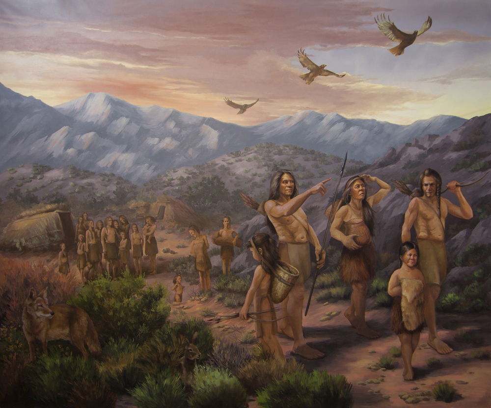 "Mural 1: ""The Exodus of the Chemehuevi from their Language Cousins"""