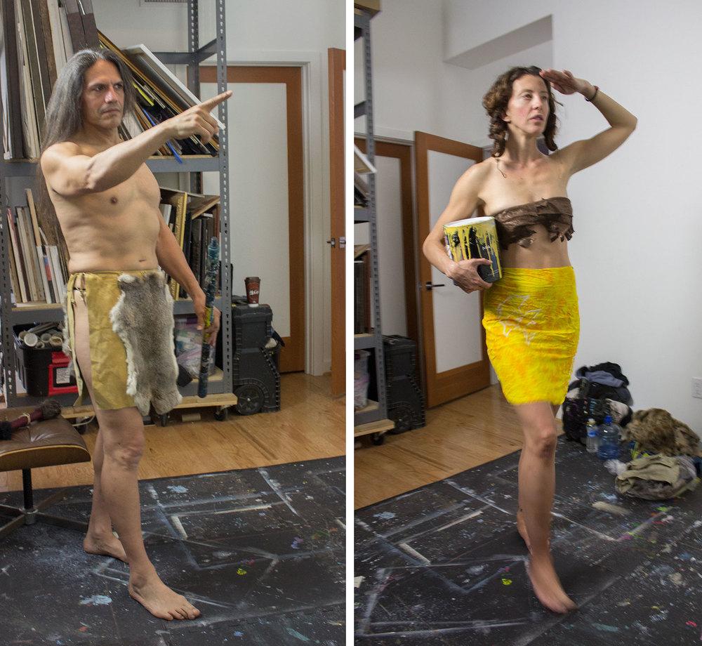 Mural 1 & 2: Models (Patrick Kelly & Alexandria Morrow)