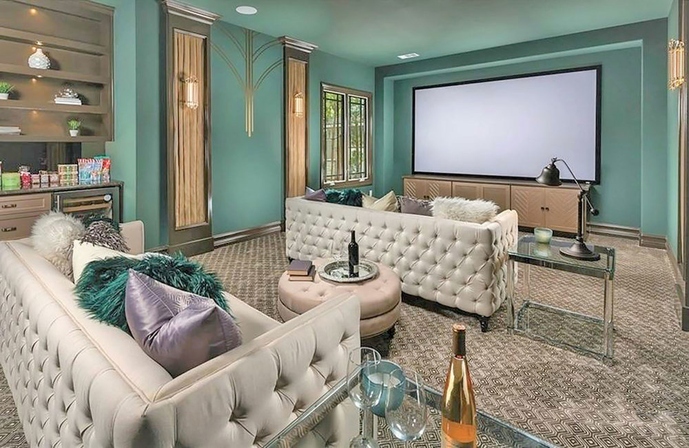 Art Deco Inspired Home Cinema