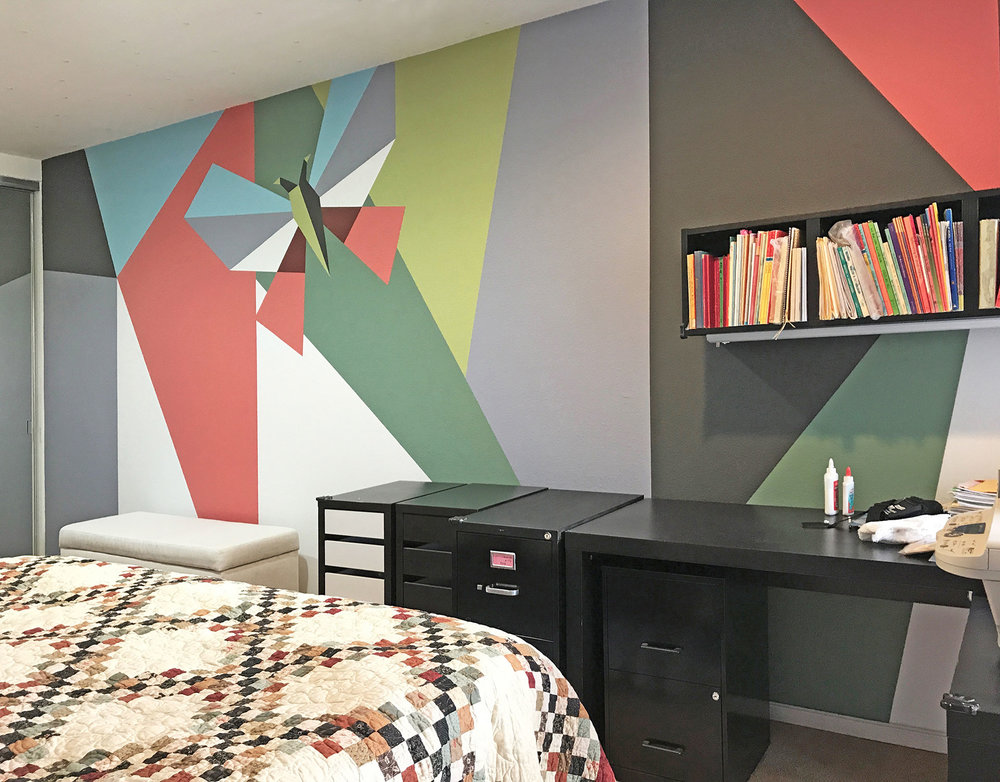 Modern Geometric Bedroom, Santa Monica, CA