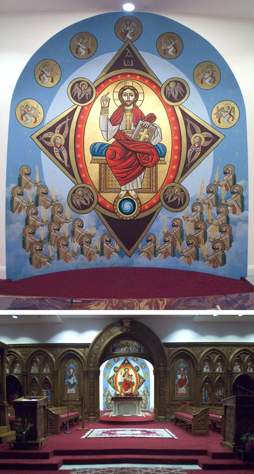 St. Mary and St. Athanasius Coptic Church, Altar
